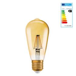 Extralux Lamp ST64 retro goud filament 4 watt - E27 2400K
