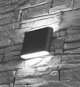 Extralux Simbo Wandlamp 8 watt - 3000K antraciet