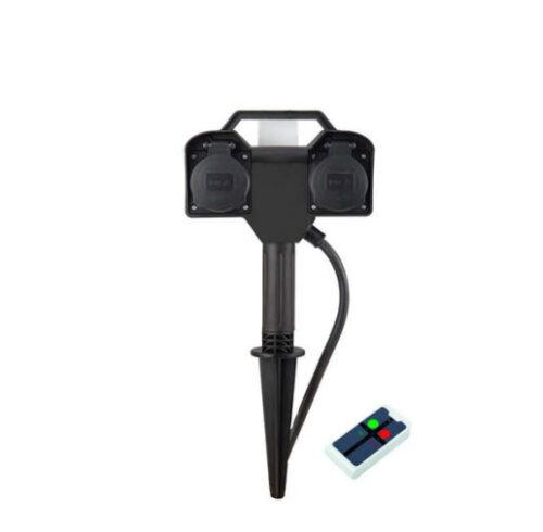 Extralux stopcontact op spike met afstandbediening